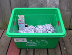 Worm Bin with Bedding